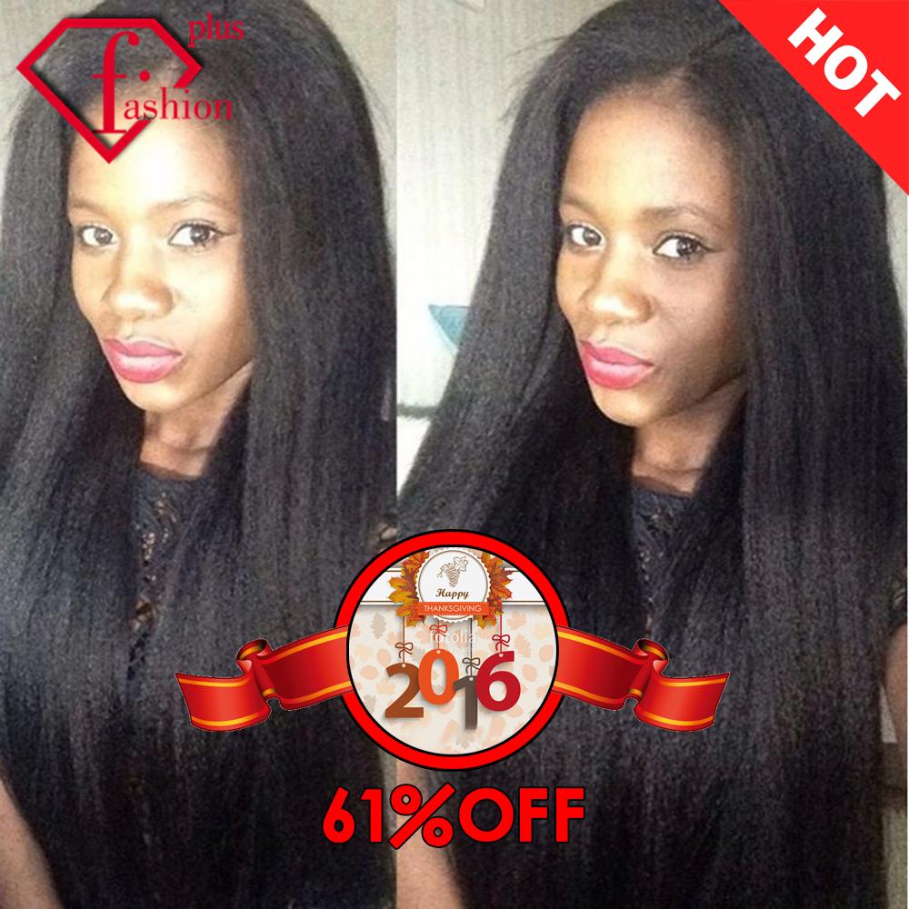 7A Brazilian Virgin Hair Kinky Straight Knots 3Pcs Brazilian Hair Bundles Yaki Brazilian Straight Coarse Yaki Human Hair Weaving(China (Mainland))