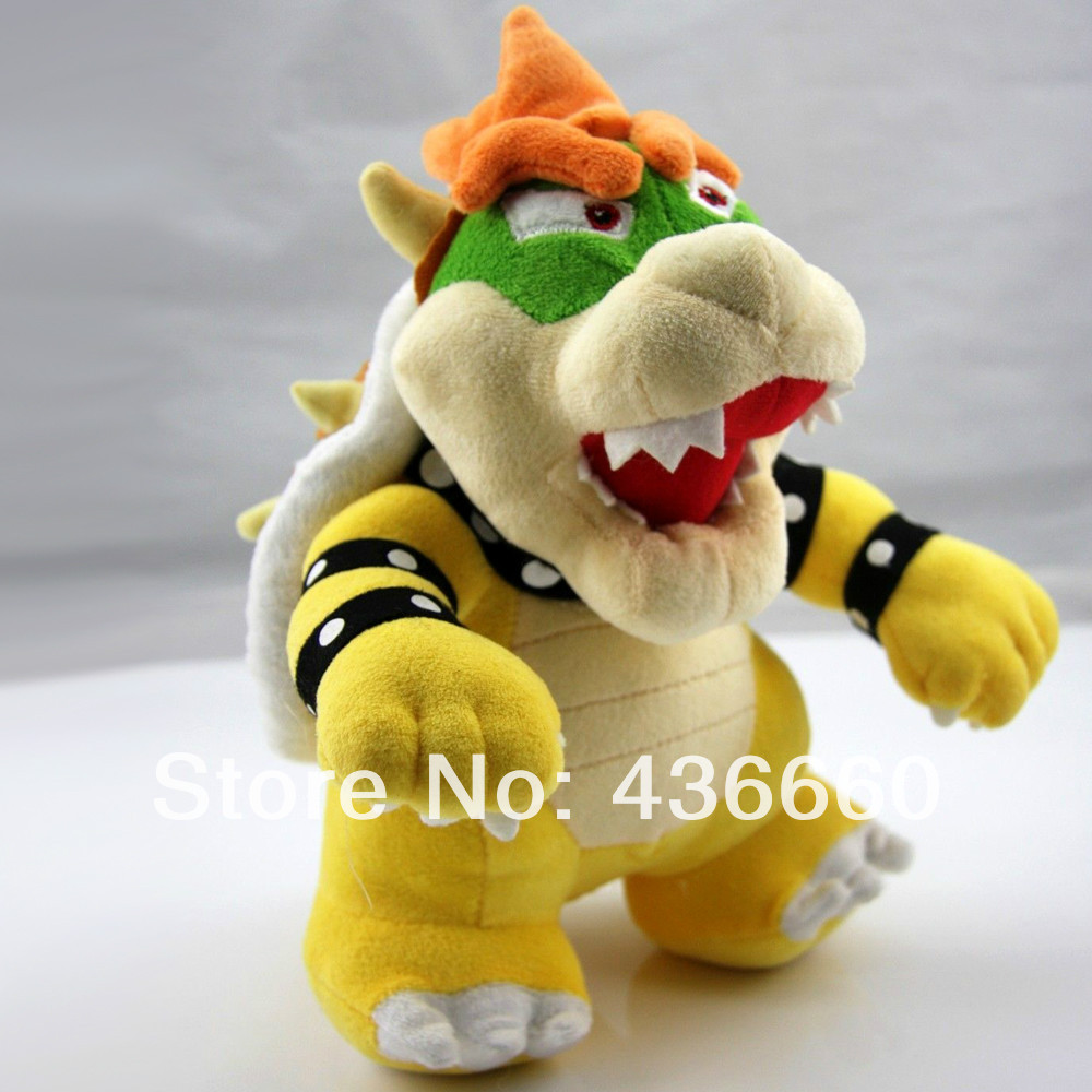 """Super Mario Bros 10"""" Standing King Bowser Koopa Stuffed Animals & Plush Doll Toys Game new with tag(China (Mainland))"""