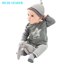 Bear Leader 2015 Spring and autumn baby boy girls clothes casual 3pcs (Hat + T-shirt, pants) The stars leisure baby boys clothes