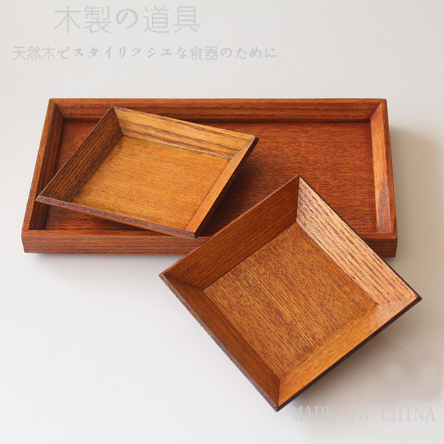 FREE Shipping New 2014  wooden tea pallet tableware set including 2 small pieces and 1 large piece PD011