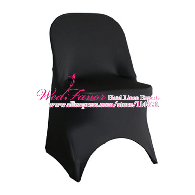 100pcs Black Elastic Stretch Folding Chair Covers Spandex Lycra Chair Covers For Folding Chairs Event Hotel Wedding Supplies(China (Mainland))