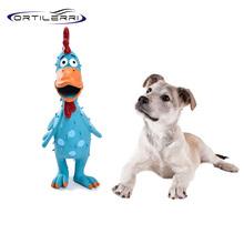 Ortilerri Cartoon Creative Interaction Natural Latex Scream Chicken Sound Toys Resistance Bite Toys Pets Puppy Pet Supplies(China (Mainland))