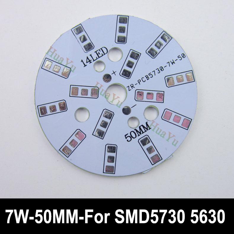 50pcs 7W 50mm LED PCB board for 5730 5630 leds, Heat sink board, 7W LED aluminium plate Base for bulib light, ceiling light(China (Mainland))