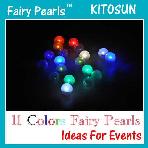 Fairy LED Pearls!!!(50pcs/Lot) Wedding Decoration 2CM Mini Colorful Small Battery Led Berries Waterproof Floating LED Lights(China (Mainland))