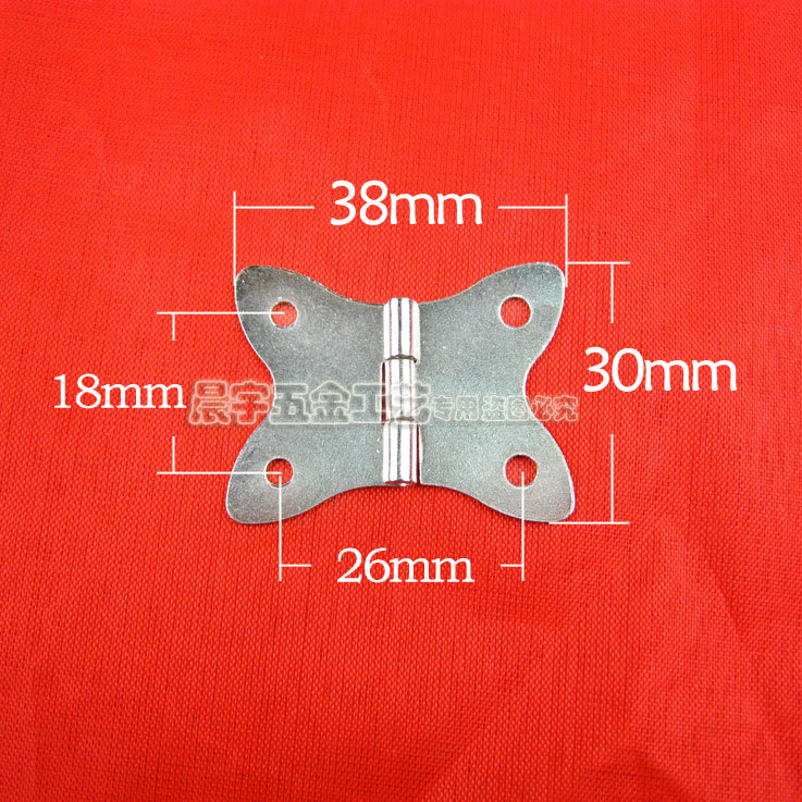 Free Shipping Wholesale Furniture Accessori 2015 Kitchen Cabinet Jewelry Box Hinge With Screws Iron Metal Butterfly 100pcs/lot(China (Mainland))