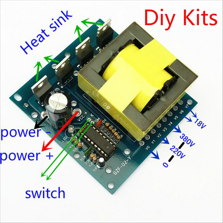 1PCS KITS DC-AC Converter 12V to 220V 380V 18V AC 500W Inverter Board Transformer Power DIY KIT(China (Mainland))
