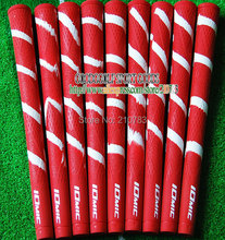 New Golf irons Grips IOMIC Golf Clubs Grip 10pcs/Lot Red color Can mix color Golf Grips Free Shipping(China (Mainland))