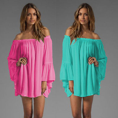 Womens Sexy Summer Strapless Tunic Mini Dress Beach Boho Casual Dress Cover UpsОдежда и ак�е��уары<br><br><br>Aliexpress