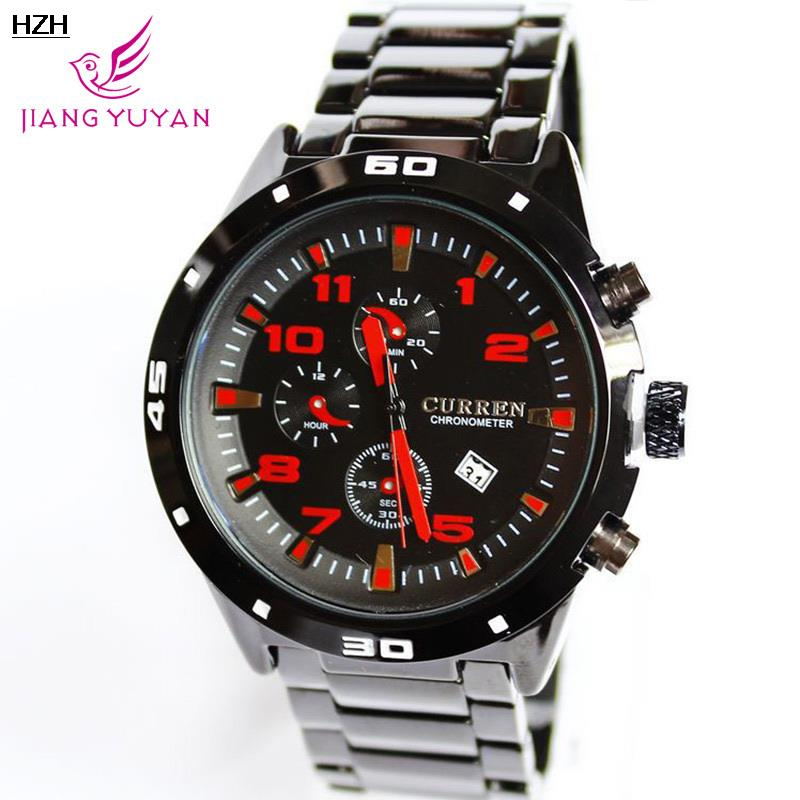 On Sale Fashi 2015 whole curren men steel mechanical business bracelet watches retro relogios bluetooth v6 silicone wristwatche(China (Mainland))