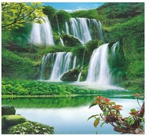 Virgin forest Quiet customized Wallpaper 3d Stereo Wallpaper Mural Wall Painting Gallery Walk Sofa Living Room Bedroom Backdrop(China (Mainland))