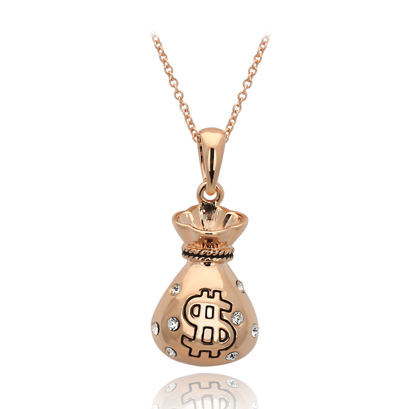 Top Quality ZYN190 Gold Moneybag 18K Rose Gold Plated Fashion Pendant Jewelry Made with Austria Crystal Wholesale(China (Mainland))