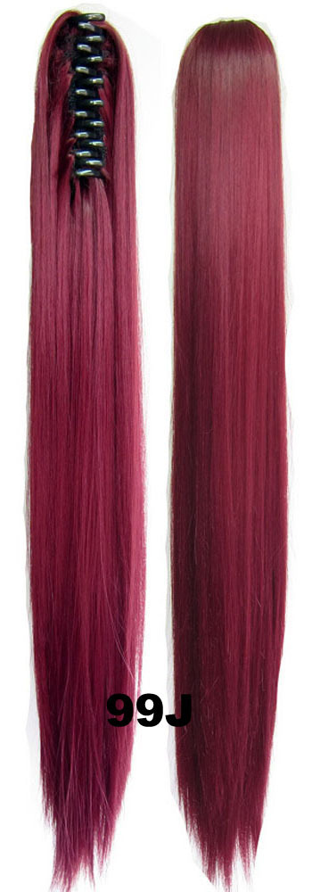 Wholesale supply high temperature wire high temperature wire clip hair wig ponytail holder 99J 55cm tiger 150g(China (Mainland))