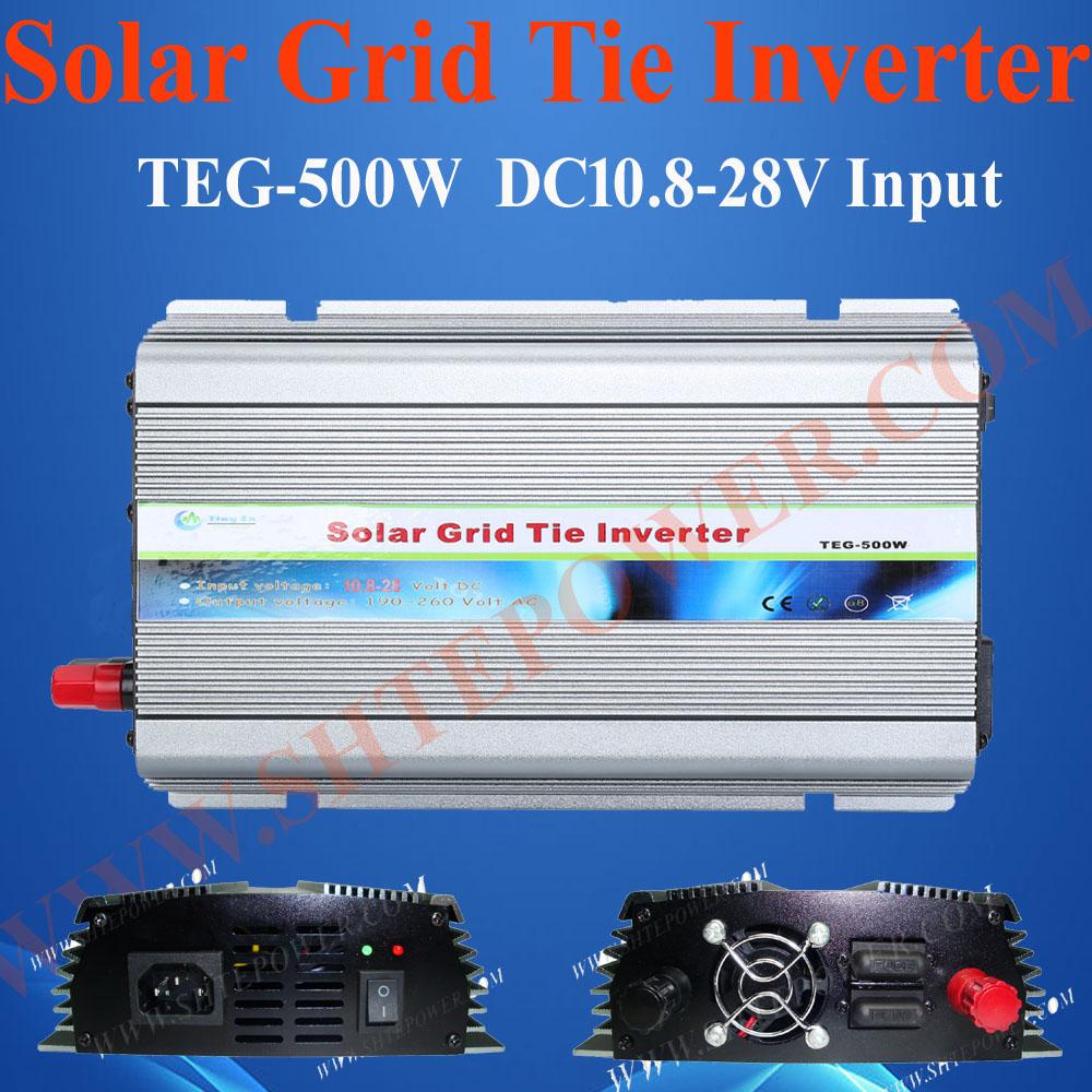 mppt solar inverter 500w on grid micro inverter 500w solar grid tie converter(China (Mainland))