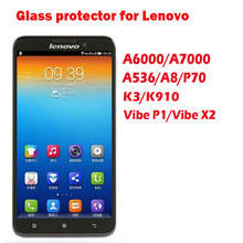 Tempered Glass Screen Protector Protective Film Guard for Lenovo S660 A6000 A7000 A536 A8 P70 K3 Vibe Z K910/P1/X2 Display Cover