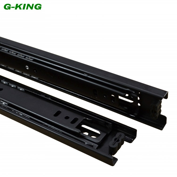 Drawer slide three ball guide rail width 42mm furniture mechanical cabinet guide rail(China (Mainland))