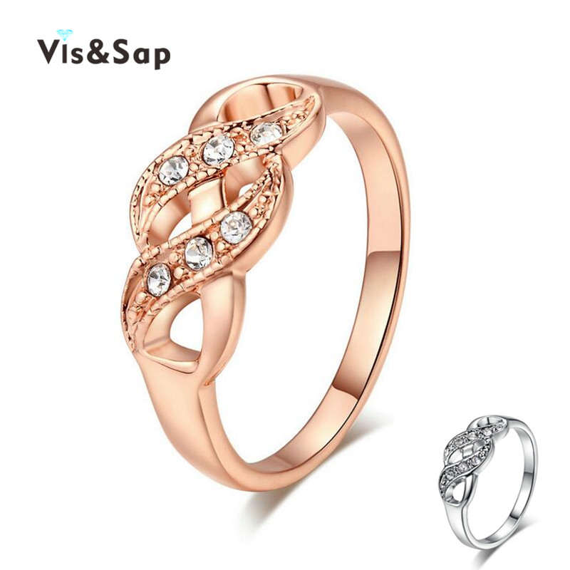 18k Gold Plated ring fashion jewelry wholesale Rings for women twist wedding bands cz diamond Accessories Wholesale V18KR004(China (Mainland))