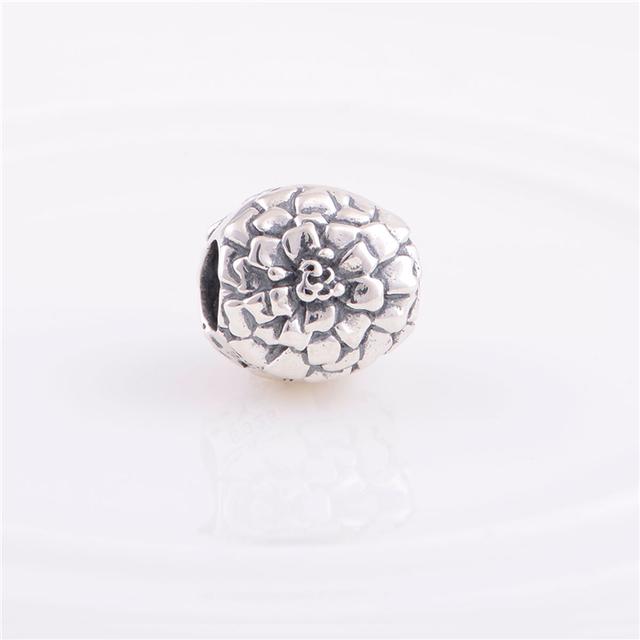 Стерлингового серебра 925 бусины цветок шарм женщины ювелирные изделия DIY подходит для Chamilia европейский шарм браслет YZ285