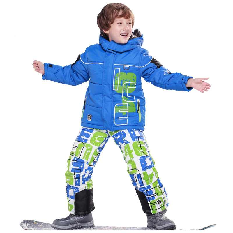 Children christmas Clothes Warm Coat Sporty Ski Suit Kids Clothes Sets Outerwear Waterproof Windproof Boys Jacket For -30 Degree(China (Mainland))