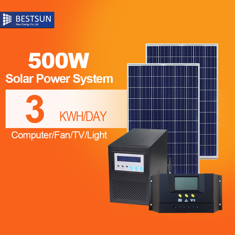 Bestsun mini home projects solar power system 300w-500w high configuration(China (Mainland))
