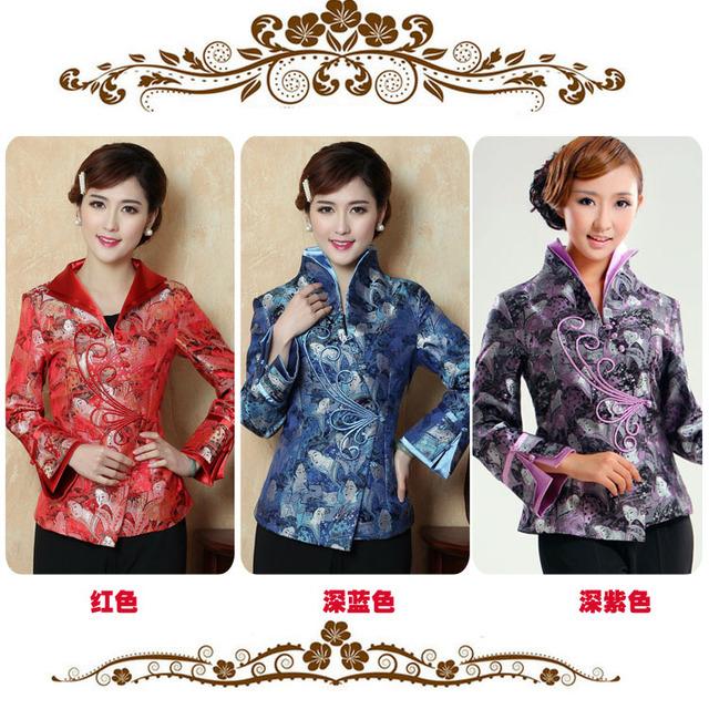 Chinese Tradition Стиль Женщины's Coat Jacket M L XL XXL 3XL 4XL