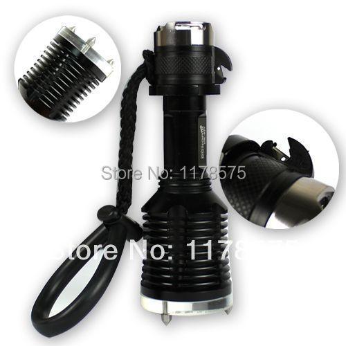 Free Shipping 1800LM CREE XM-L T6 LED Cuter Lifesaving Hammer Arm Band Diving Torch Flashlight---FL03080(China (Mainland))