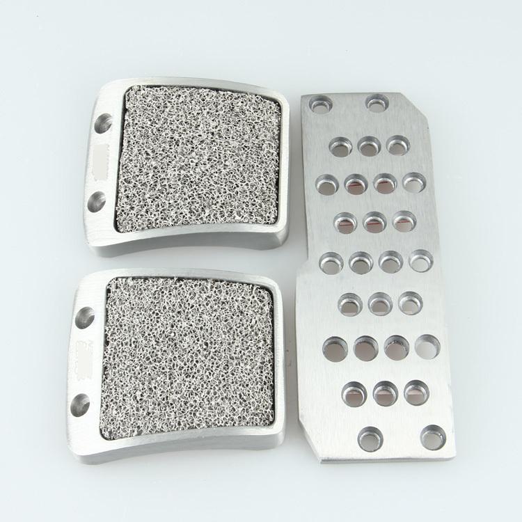 3Pcs Mugen Aluminum Universal Non Slip Manual Transmission Car/Vehicle Pedals Pad Accelerator/Clutch/Brake Fit Jazz Fit Silver(China (Mainland))