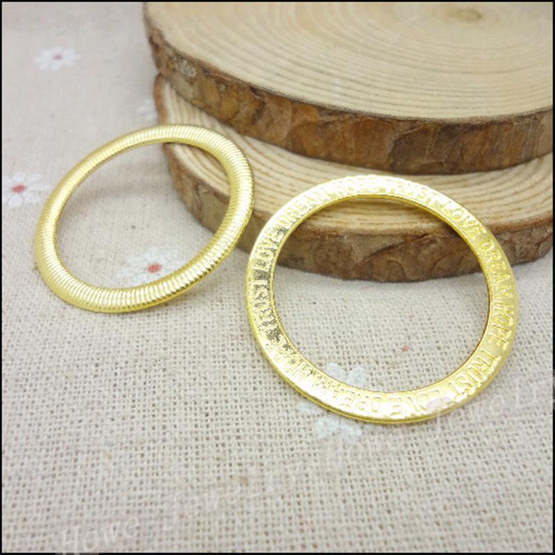 36MM 10pcs / Lots Golden Alphabet Circle Connector DIY Handmade Jewelry Supplies Decorative Metal Jewelry Accessories ML-22(China (Mainland))
