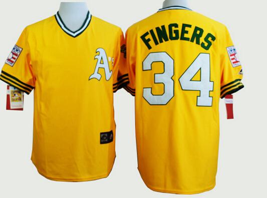 2015 New Oakland Athletics Jerseys #9 Reggie Jackson 34 Rollie Fingers 24 Rickey Henderson Men's Baseball Jerseys Free shipping(China (Mainland))