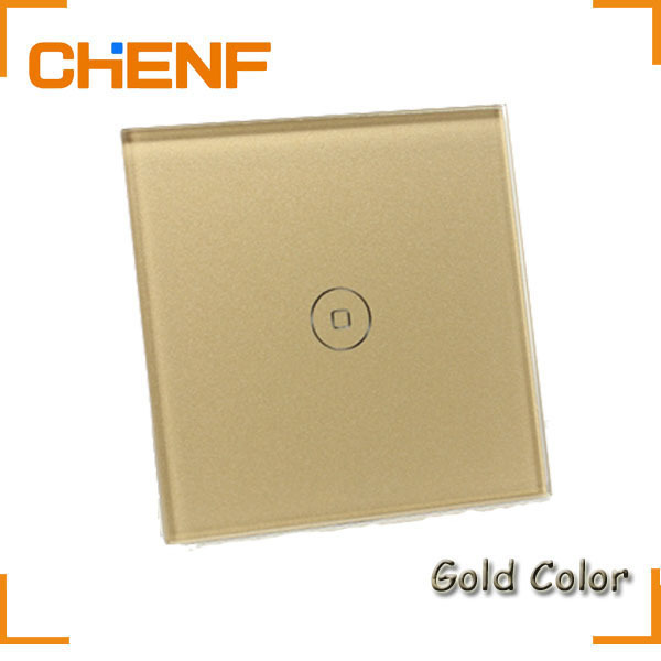 DROP SHIPPING !! (1 PIECE SALE) Home / Hotel Automation One Gang Touch Screen Single Control Wall Touch Switch with Glass Panel(China (Mainland))