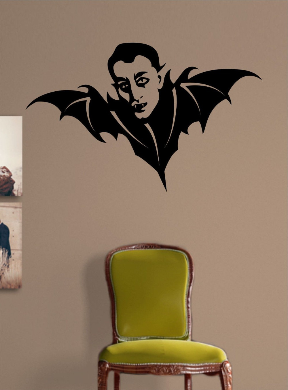 Morcego vampiro halloween vinyl decalque mural art for Decalque mural