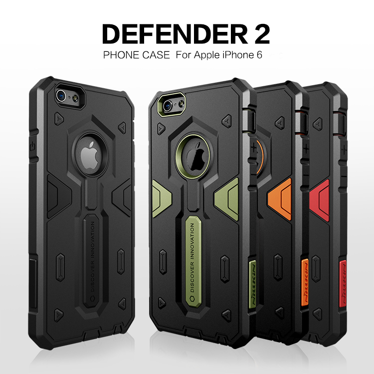 For Apple iPhone 6 6S Case Nillkin Defender 2 Neo Hybrid Tough Armor Slim Cases For iPhone 6s 6 Plus 5.5'' Phone Back Covers(China (Mainland))