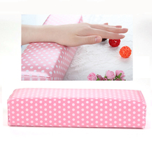 Pro Nail Art Tool Semicircle Leather Loving Heart Hand Cushion for Nail/Arms Pink(China (Mainland))
