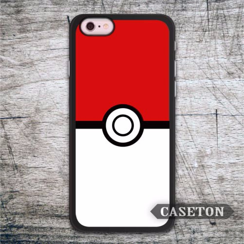 Pokeball Poke Ball Case For iPhone 7 6 6s Plus 5 5s SE 5c 4 4s and For iPod 5 Lovely Protective Phone Cover Free Shipping