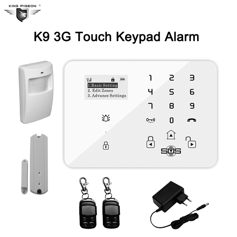 Home Wireless Alarm Touch Keyboard GPRS GSM Home Personal House Alarm Security System 433MHz Magnetic Window+PIR Motion Detector(China (Mainland))