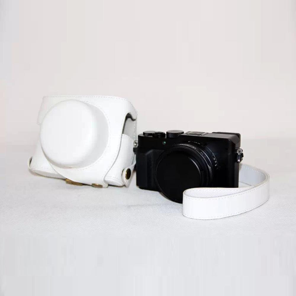 White 2015 Hot PU Leather Camera Bag Case Cover For Panasonic LX100 Original Camera Lens Hard Bag Camera Strap Free Shipping(China (Mainland))