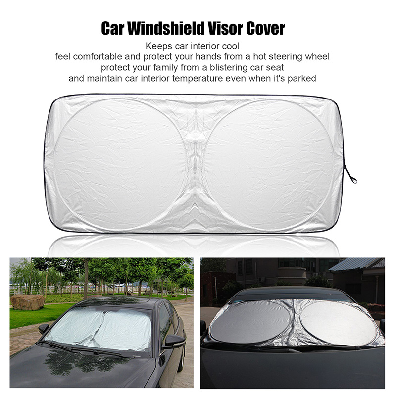 Auto Front Rear Window Sun Shade Car Windshield Visor Cover Block Sunshade Foldable Cover(China (Mainland))