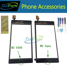Buy Black White Sony M2 Aqua D2403/ M2 S50h D2303 Touch Front Glass Touch Screen Digitizer Tools /3M Adhesive Tape 1PC/Lot for $5.36 in AliExpress store
