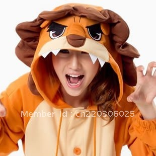 Kigurumi Cosplay Pajamas Party OEM Lion for halloween and christmas party mascot  Animal costume/Performance clothing