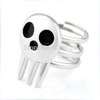 A8Free shipping!1pcs New Cute Soul Eater Death The Kid Rings Silver FHRG For Anime Cosplay T1534 P