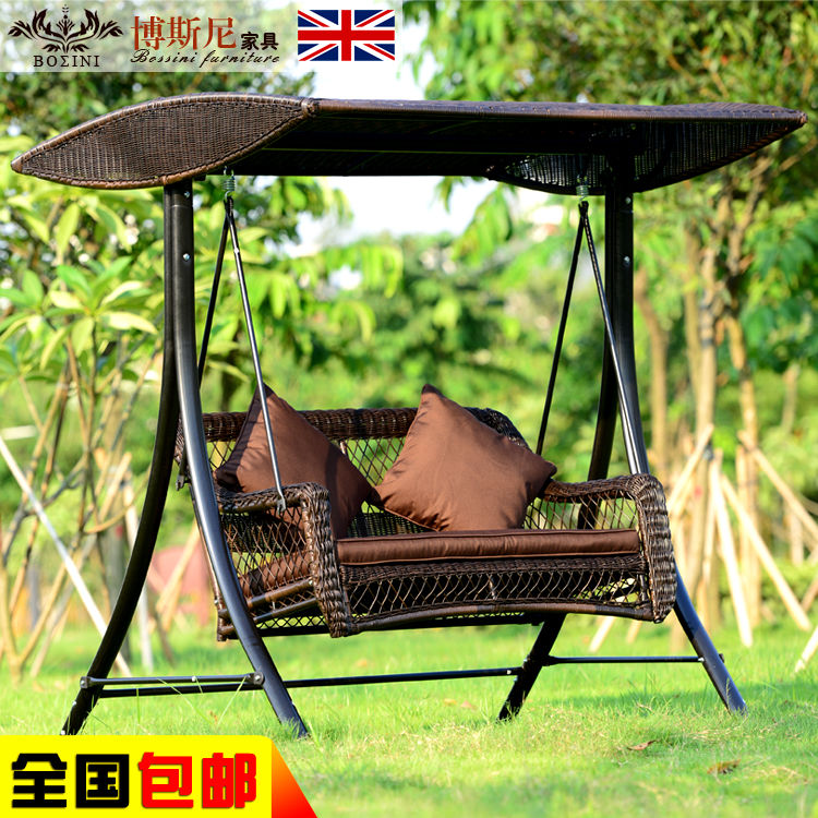Online kaufen gro handel rattan schaukel aus china rattan for Schaukelstuhl outdoor rattan