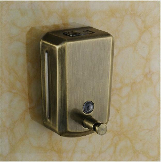 Antique Bronze Wall Mounted Liquid Soap Dispenser Bathroom Shampoo Box Wall Mount Sensor Faucet