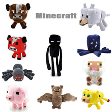 2015 New Minecraft Plush Toys Enderman Ocelot Pig Sheep Bat Mooshroom Squid Spider Wolf Animal soft stuffed dolls kids toy gift(China (Mainland))