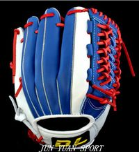 High quality Professional Weave cowhide leather baseball gloves tongue blue softball infielder gloves adult man,Free shipping!(China (Mainland))