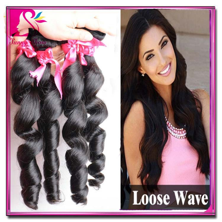 Cheap Pervian Loose Wave Virgin Hair Weaving Unprocessed Peruvian Virgin  Loose Wave Remy Human Hair 4 Bundles 400g Mega Hair