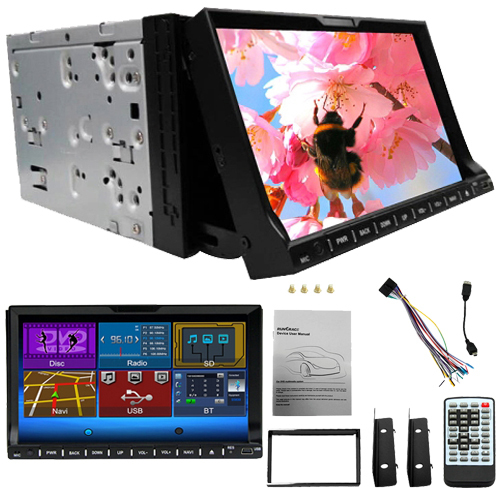 2 Din Rungrace Universal 7 inch TFT Screen Car DVD Player with Bluetooth RDS ATV Car