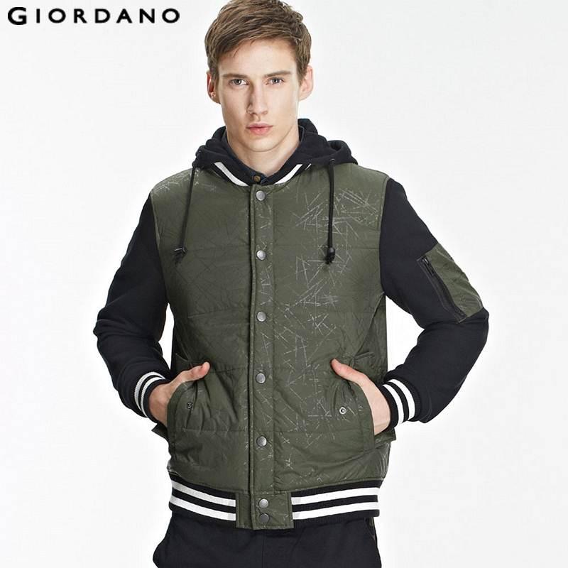 Giordano Men 2015 Spring Brand Fashion Bomber Jackets and Coats Chaqueta Abrigo Hombre Veste Homme Mens Jaqueta Detachable Hood(China (Mainland))