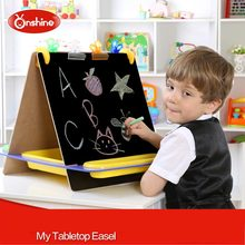 Multifunction Children Wooden Double Drawing Board Blackboard Tabletop Writing Fantastic Easel Learning & Education Toys(China (Mainland))