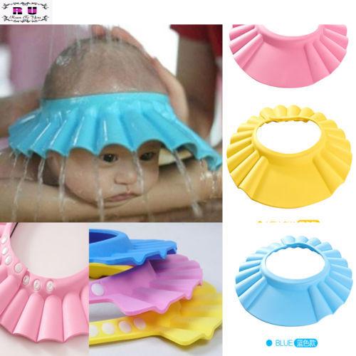 1 шт. регулируемая детские дети шампунь ванна купание шапочка для душа Hat мытья ...