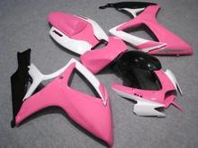 Motorcycle Fairing kit for SUZUKI GSXR600 750 K6 06 07 GSXR 600 GSXR 750 2006 2007 ABS Pink White Fairings set+7gifts SC40(China (Mainland))