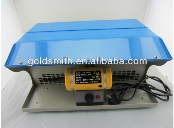 hot sale!!! mini table polisher,Polishing motor with Dust Collector,mini jewelry bench lathe, buffing polishing machine